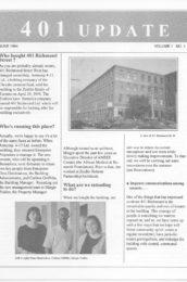 thumbnail of 401 Update Newsletter_June 1994, Issue 1 Vol. 1